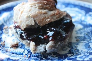 Perfect treat with a lovely dollop of damson and grape jam.