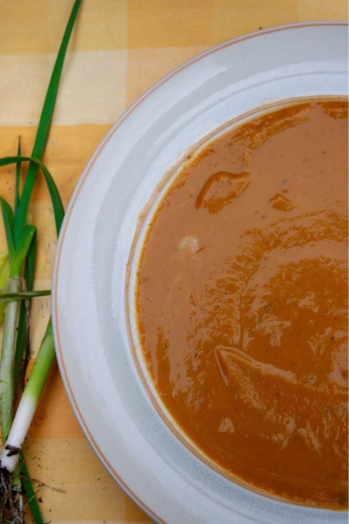 Leek, Sweet Potato & Ginger Soup