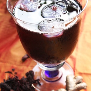 Caribbean sorrel drink. A wonderful deep red. Each island makes it slightly differently in terms of spices added. Some add cloves. Experiment to see the flavours you love coming through.